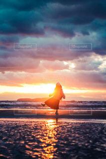 父母ヶ浜の夕焼けの写真・画像素材[4007912]