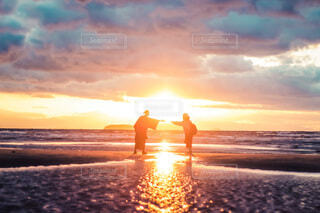 父母ヶ浜の夕焼けの写真・画像素材[4007913]