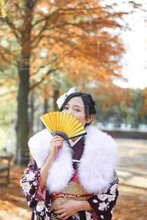 秋,イベント,和服,お祝い,晴れ着,成人式,和装,扇子,行事,成人の日