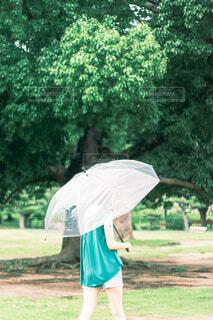 傘をさす女の子の写真・画像素材[4561252]