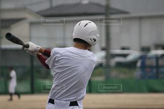10代,スポーツ,後ろ姿,男,男子,人物,背中,人,後姿,野球,バッターボックス,ヘルメット,弟,高校野球,バッター,プレーヤー