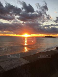 自然,海,空,屋外,太陽,雲,砂浜,夕暮れ,海岸,光