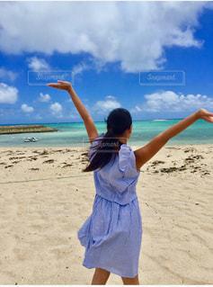 海,空,砂,ビーチ,青,沖縄