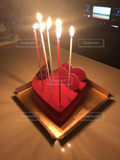 ケーキ,キャンドル,誕生日,点灯
