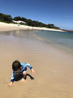 海,夏,砂,ビーチ,晴れ,砂浜,幼児,オーストラリア,シドニー