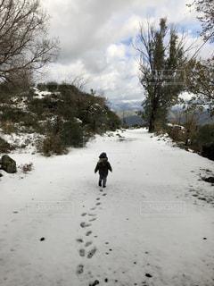 息子 初めての雪❄️の写真・画像素材[2131371]