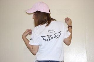 友人のブランドのイメージモデル務めた時の写真です。の写真・画像素材[3811213]
