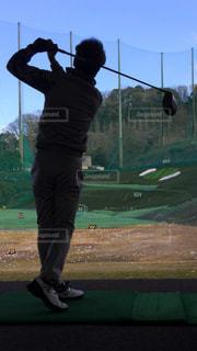 風景,スポーツ,屋外,ボール,人,ゴルフ,休日,練習,打ちっ放し,下手くそ