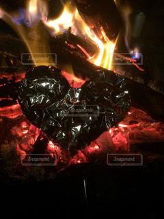 自然,屋外,ハート,キャンプ,焚き火,燃える,萌える