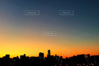 自然,風景,空,建物,夕日,大阪,夕陽