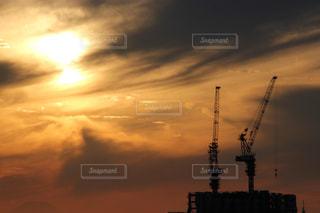 風景,夕日,ベージュ,ミルクティー色,都会の夕日,東京の夕日,大都会の夕日