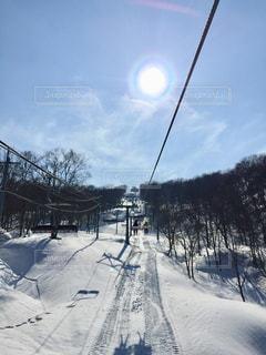 上越国際スキー場のリフトの写真・画像素材[2817269]