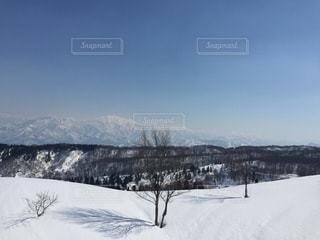 上越国際スキー場のリフトからの写真・画像素材[2817282]