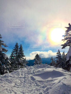 空,雪,屋外,太陽,山,光