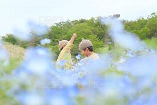 春の公園でピクニックの写真・画像素材[2099257]