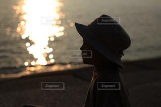 沈む夕日の写真・画像素材[2328638]