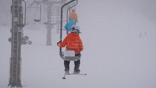 冬,雪,山,子供,旅行,レジャー,リフト,蔵王,冷