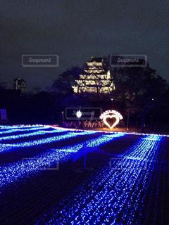 大阪城イルミネーションの写真・画像素材[2019390]