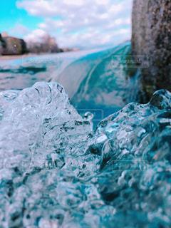 空,波,水面,流水