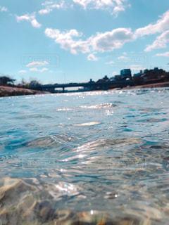 空,波,水面,景観,流水