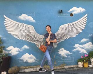 【ミーハー】バレリーナが韓国で話題のウォールアートと写真を撮ったらの写真・画像素材[2058747]