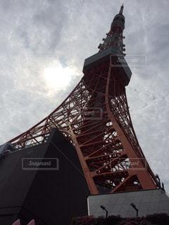 東京タワー,雲,光,ハート,ハートマーク,雲のすきま