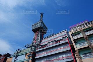 空,建物,屋外,雲,タワー,都会,リラックス,高層ビル,別府,別府タワー,内藤多仲