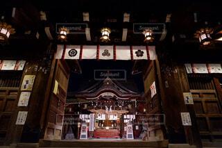 建物,夜,神社,旅行,ライフスタイル,テキスト
