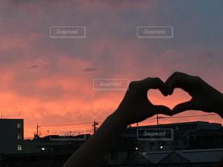 都市の夕日の写真・画像素材[2268579]