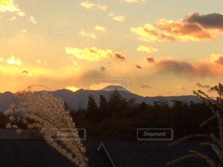 空の雲のクローズアップの写真・画像素材[2422247]