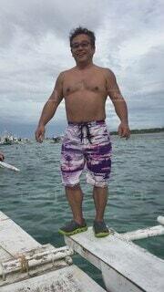 男性,風景,海,空,屋外,湖,サーフィン,ビーチ,ボート,サンダル,水着,船,水面,泳ぐ,楽しい,人物,人,笑顔,トランク,セブ島,ぽっちゃり,ショートパンツ,筋肉,腹筋,飛び込み,車両,メガネ,50代,水上バイク,セーリング,マッスル,大胸筋,ボードショート,貸切船,パーソン