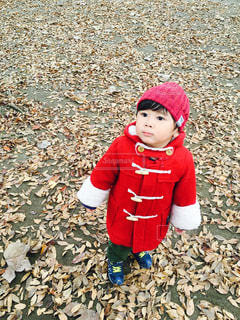 帽子をかぶった小さな女の子の写真・画像素材[2189972]