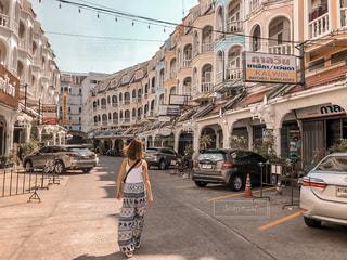 建物,海外,道,写真,プーケット,ベージュ,photo,Phuket