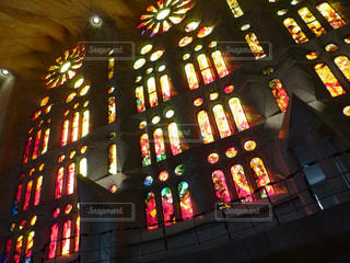 Red ray in sagrada familliaの写真・画像素材[2044182]
