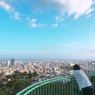 自然,風景,空,建物,屋外,後ろ姿,都会,人物,背中,人,神戸,日中