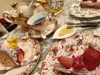 カフェ,花,ケーキ,ピンク,かわいい,フラワー,お菓子,メルヘン,可愛い,紅茶,パステル,パステルカラー,夢かわいい,おしゃれ,ティーポット,ファンシー