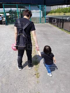 親子,後ろ姿,人物,背中,人,後姿