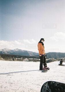 風景,空,冬,雪,屋外,山,人,スキー,運動,ポートレート,スノーボード,ウィンタースポーツ,写ルンです,スポーツ用品