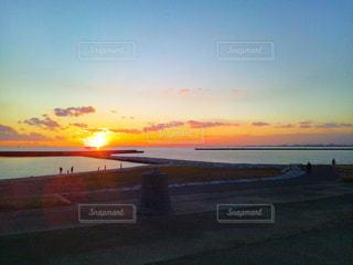 ある日の夕焼けの写真・画像素材[1987348]