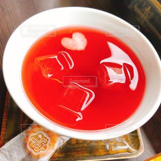 スープのボウルのクローズアップの写真・画像素材[2264833]