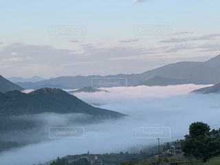 朝の雲海の写真・画像素材[2796024]