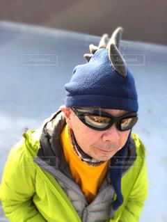 ゴジラの帽子の写真・画像素材[2277346]