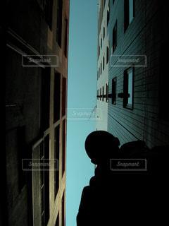 空の無い街の写真・画像素材[3001992]