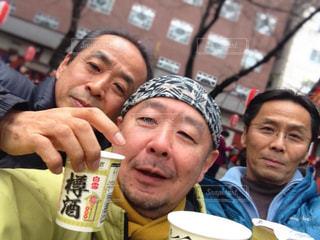 初詣で乾杯!の写真・画像素材[3050864]