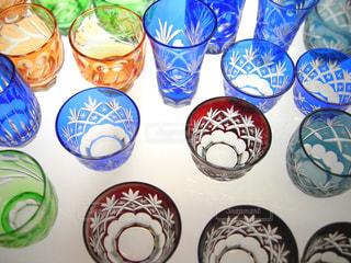 江戸切子のグラスの写真・画像素材[3112261]