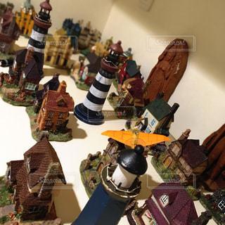玄関のジオラマ飾りの写真・画像素材[3210253]