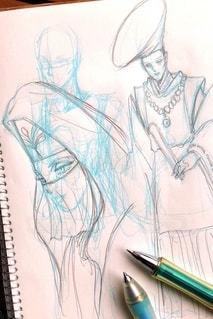 キャラクターのアイデアスケッチの写真・画像素材[3299147]