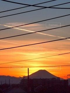 夕焼け富士の写真・画像素材[3396108]