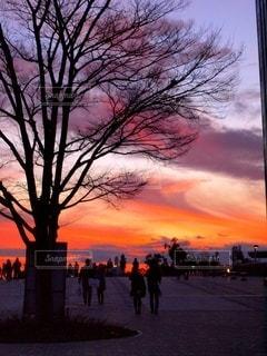 お台場公園の夕焼け3の写真・画像素材[3398966]