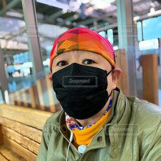 黒マスクは似合わないねの写真・画像素材[3974069]